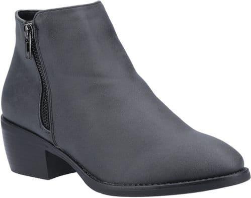 Divaz Ruby Ladies Ankle Boots Black
